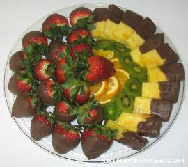 Chocolate Dipped Strawberries & Pineapple