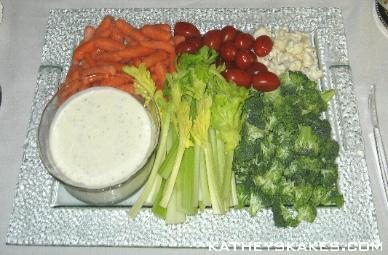 Veggie Tray: Carrots, Tomatoes, Cauliflower, Broccoli & Celery