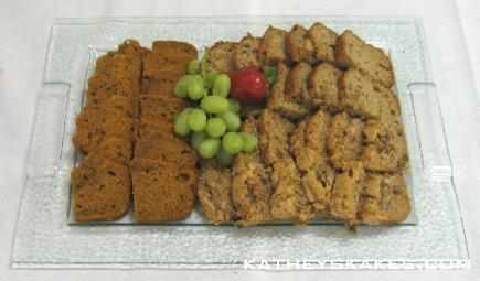 Tea Bread Tray: Pumpkin, Hawaiian Banana Nut, Applesauce Nut
