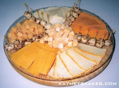 Cheese Tray with Slices, Cubes & Individual Cheeseballs